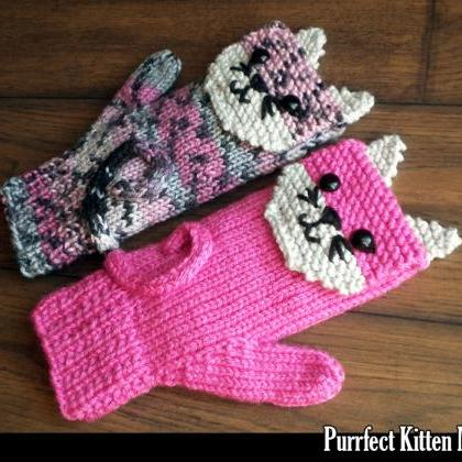 Purrfect Kitten Mittens for the Fam..