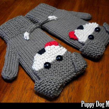 Puppy Dog Mittens for the Family Kn..