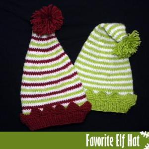 Favorite Elf Hat Knitting Pattern on Luulla