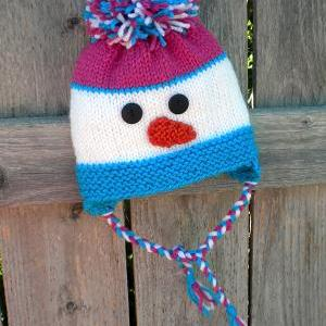 Knitting Snowman Hat with Earflaps ..