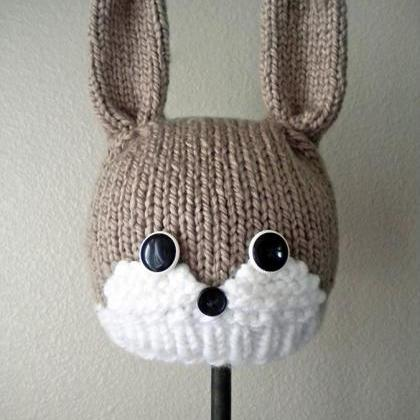 Woodland Bunny Hat Knitting Pattern