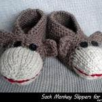 Sock Monkey Slippers For A..