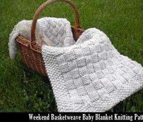 Weekend Basketweave Baby Blanket