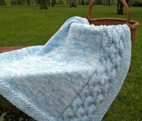 Cables on the Eastside Baby Blanket