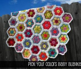Pick Your Colors Baby Blanket Pattern