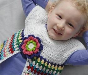 Pretty Posy Vest for Girls Crochet Pattern