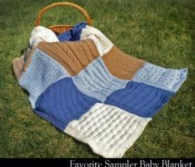 Favorite Sampler Baby Blanket Knitting Pattern