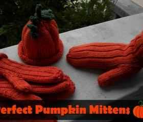 Perfect Pumpkin Mittens Knitting Pattern