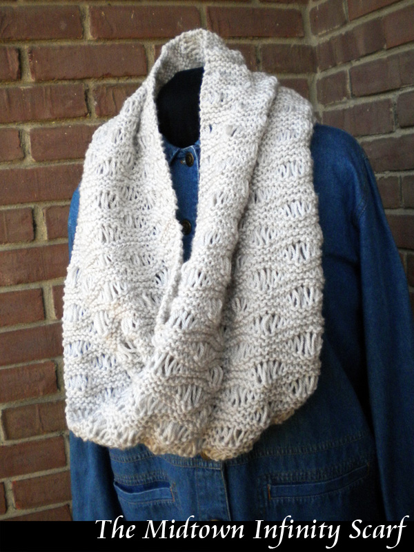 Knitting Patterns Scarf Infinity : The Midtown Infinity Scarf Knitting Pattern on Luulla