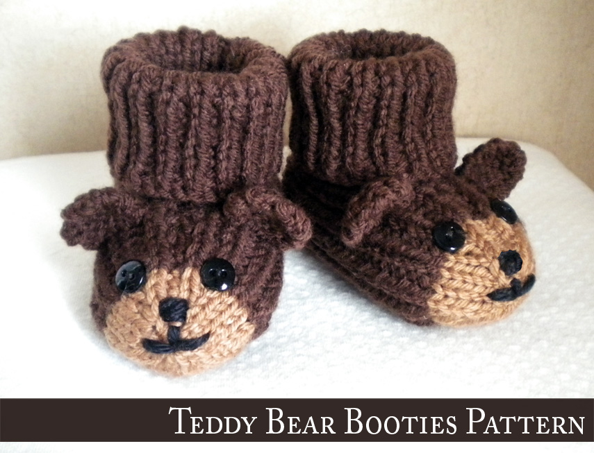 Teddy bear baby booties knitting pattern 2 reviews teddy bear baby