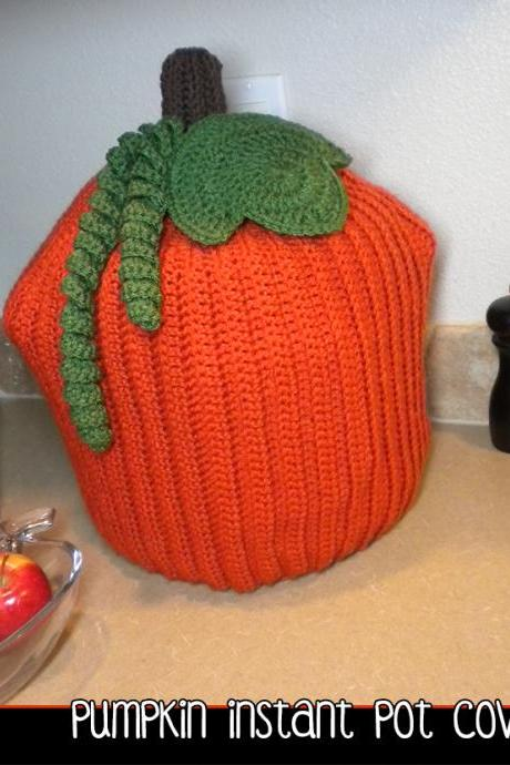 Pumpkin Instant Pot Cover - Crochet Pattern