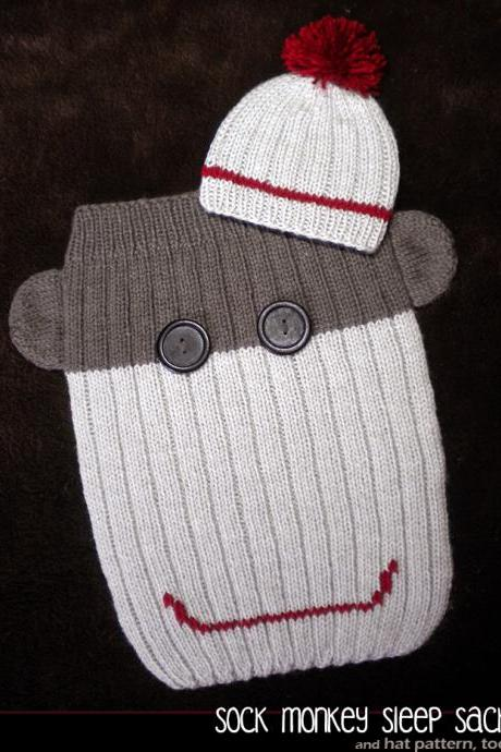 Sock Monkey Sleep Sack Knitting Pattern