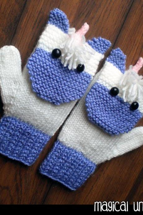 Magical Unicorn Mittens for the Family Knitting Pattern