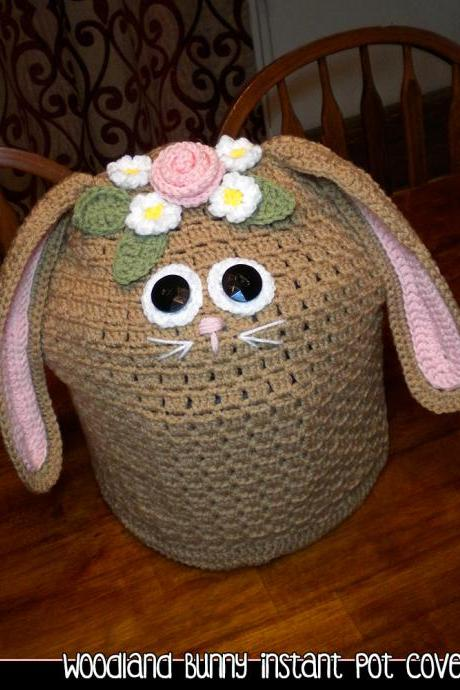 Woodland Bunny Instant Pot Cover - Crochet Pattern