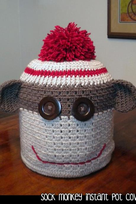 Sock Monkey Instant Pot Cover Crochet Pattern
