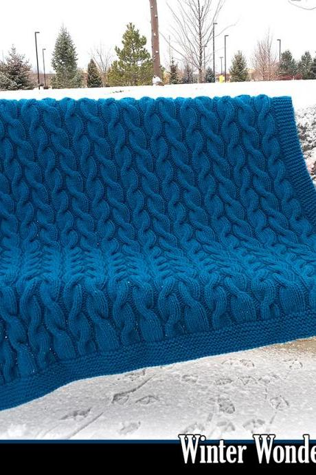 Winter Wonderland Afghan Knitting Pattern