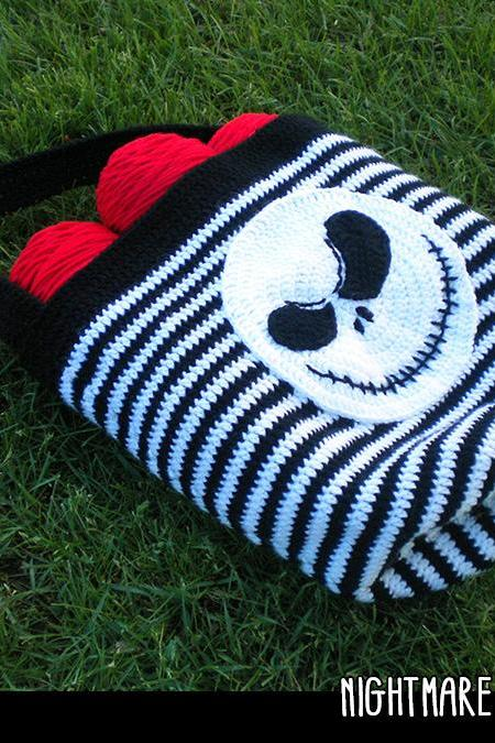 Nightmare Skull Tote Crochet Pattern