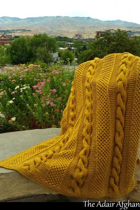 Adair's Afghan Knitting Pattern