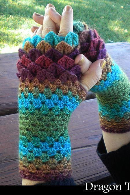 Dragon Tamer Mitts Crochet Pattern