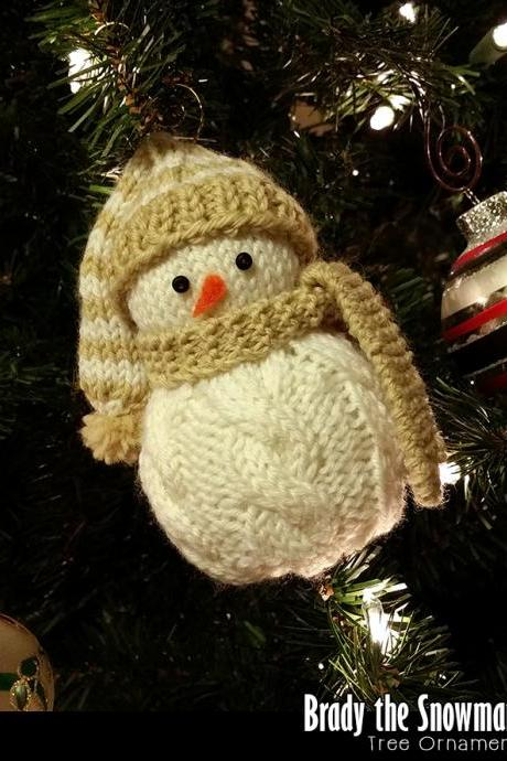 Brady the Snowman Ornament Pattern