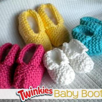 Twinkies Baby Booties Knitting Pattern