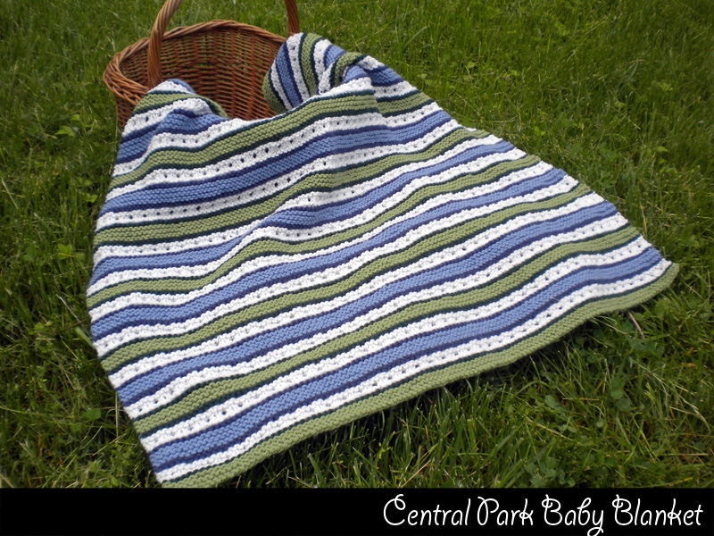 Ravelry Knitting Pattern Central : Central Park Baby Blanket Knitting Pattern on Luulla